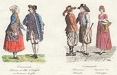 Danish costumes - Denmark - Copenhagen - Costume of festival