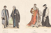 English Costume - English Fashion - House of Commons of the United Kingdom - Advisers - Peer - Bishop - XVIIIth Century