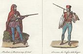 Ungarische Typische Kleidung - Tracht von Niederungarn - Pandour - Seressan  (Ungarn)
