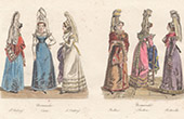 French Regional Costumes - Regions of France - Normandy - Caen - Saint-Valery-en-Caux - Bolbec (France)