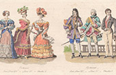 French Fashion - Historical costume - XVIIth Century - XVIIIth Century - XIXth Century - Louis XIV - Louis XV - Charles X