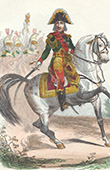 Napoleonic Soldier - Uniform - Imperial Guard - Marshal Jean Baptiste Bessières - Marshal of the Empire - Portrait on Horseback