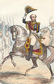 Napoleonic Soldier - Uniform - Imperial Guard - Marshal Louis Nicolas Davout - Marshal of the Empire - Portrait on Horseback