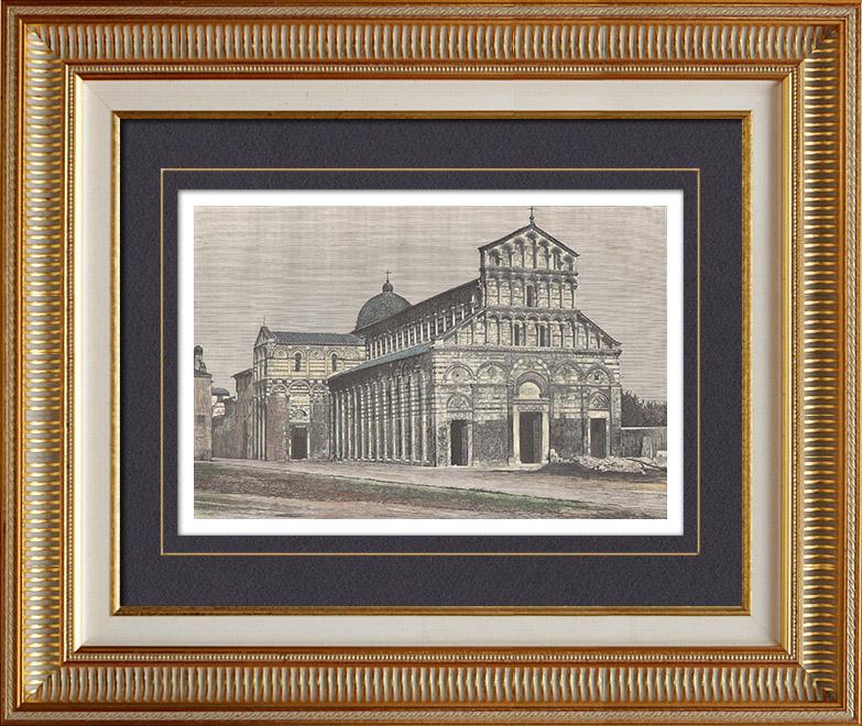 stampe antiche duomo vecchio chiesa san paolo a ripa d 39 arno a pisa toscana italia. Black Bedroom Furniture Sets. Home Design Ideas