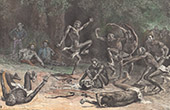San People - Bushmen - Manufacturing of the Poison of the Arrows (Kalahari Desert)