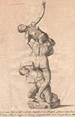 Italiensk Skulptur - Sabinskornas bortr�vande - Loggia dei Lanzi - Florens (Giovanni da Bologna)