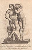 Italiensk Skulptur - Adam och Eva - Giardino di Boboli - Florens (Michelangelo Naccerini)