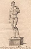 Italiensk Skulptur - David - Palazzo Vecchio - Florens (Michelangelo - Michelangelo Buonarroti - Buonarroti)