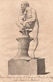Italiensk Skulptur - Vulcanus - Giardino di Boboli - Florens (Chiarissimo Fancelli)
