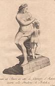 Italiensk Skulptur - Venus och Amor - Giardino di Boboli - Florens