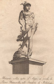 Italiensk Skulptur - Mercurius och Huvud av Argos - Giardino di Boboli - Florens (Pietro Francavilla)