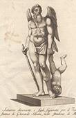 Italiensk Skulptur - Saturnus och hans son - Giardino di Boboli - Florens (Gherardo Silvani)