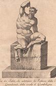 Italiensk Skulptur - Satyrer - Fontän - Piazza del Gran Duca - Florens (Skola av Giovanni da Bologna)