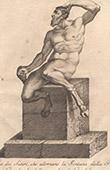 Italiensk Skulptur - Satyrer - Font�n - Piazza del Gran Duca - Florens (Skola av Giovanni da Bologna)