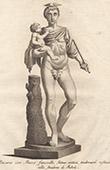 Italienischeskulptur - Mercurius und Bacchus kind - Boboli-Garten - Giardino di Boboli - Florenz
