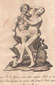 Italiensk Skulptur - Paride che rapisce Elena - Giardino di Boboli - Florens (Vincenzo de' Rossi)