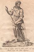 Italiensk Skulptur - Uomo che vanga - Man - Jordbearbetning - Boboli - Florens (Valerio Cioli)