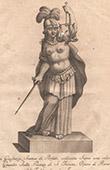 Italiensk Skulptur - Staty av Rättvisa - Allegori - Colonna di Piazza S. Trinita - Florens (Romolo del Tadda)
