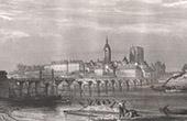 View of Beaugency - Castle - Loire - Bridge (Loiret - France)