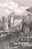 Beaupr�au Castle (Maine-et-Loire - France)
