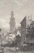 View of Landerneau - Saint-Thomas-de-Cantorb�ry Church - Brittany (Finist�re  - France)