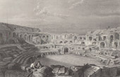 View of N�mes - Arena - Roman Amphitheater (Gard - France)