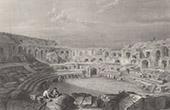 View of Nîmes - Arena - Roman Amphitheater (Gard - France)