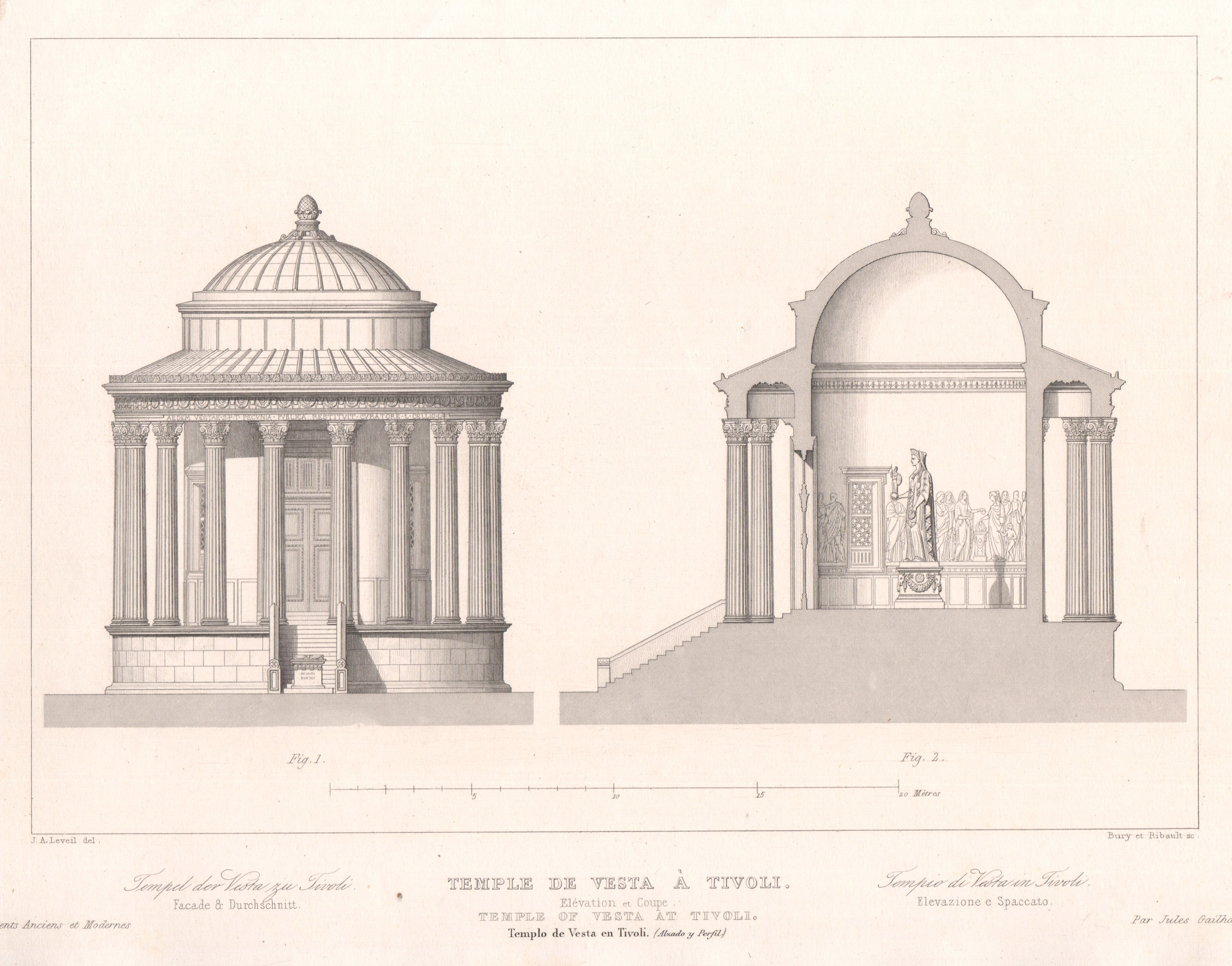 Italy - Antique Monuments - Tivoli - Temple of Vesta - Ancient Rome