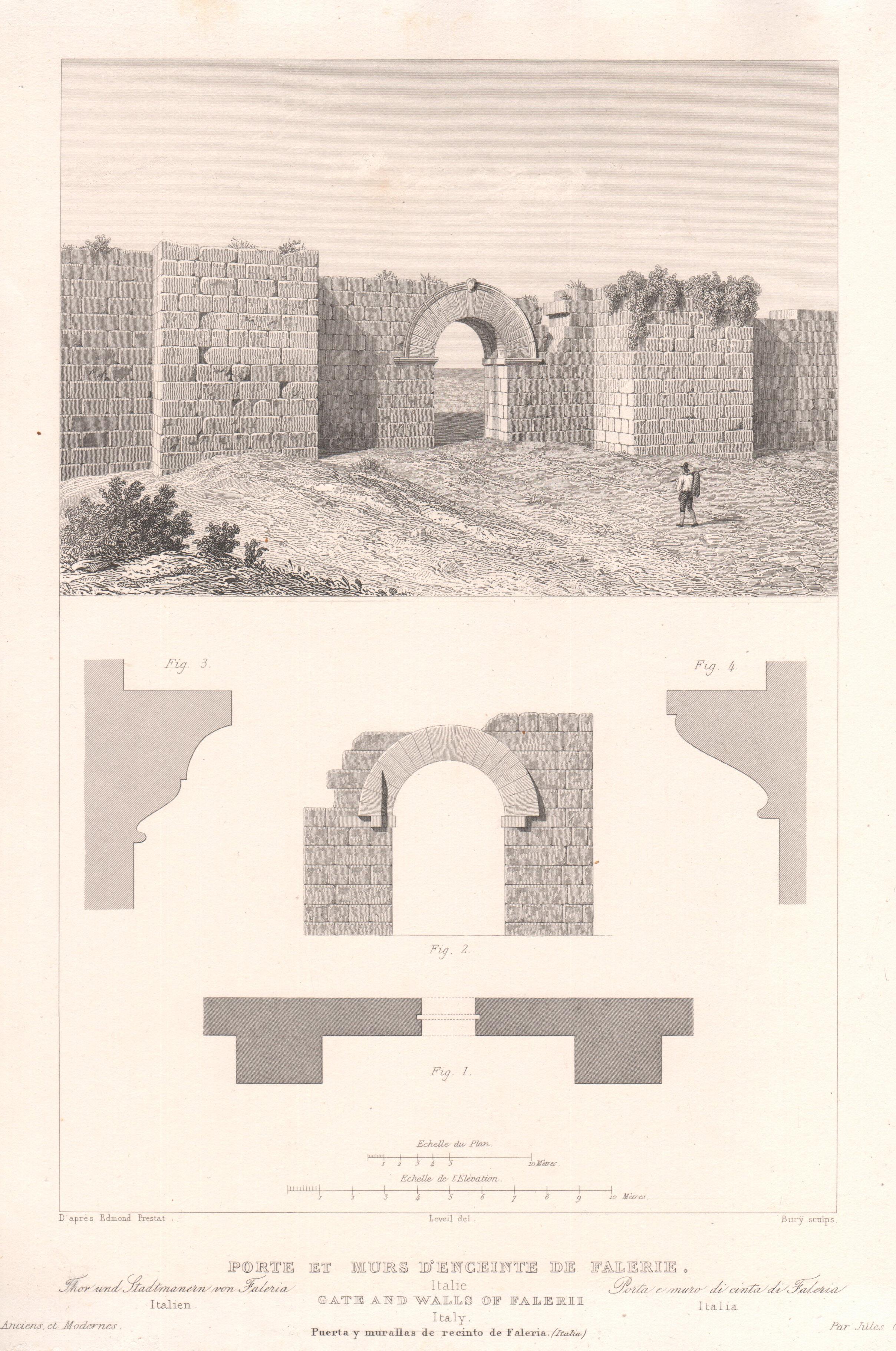 Italie - Monuments anciens - Porte et Murs de Fal�ries
