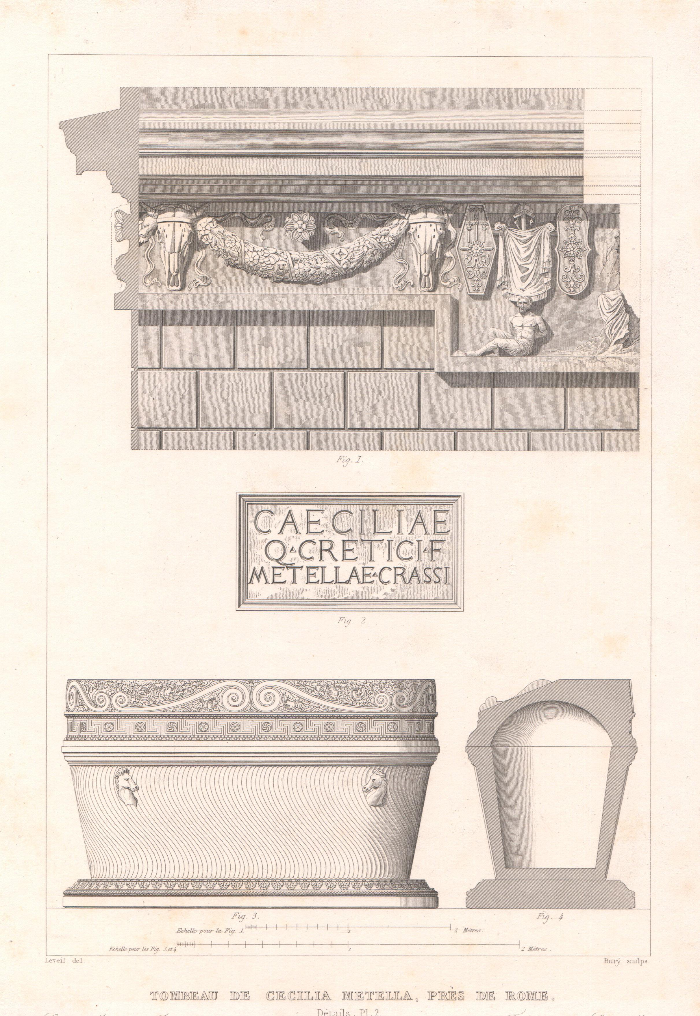 Italy - Antique Monuments - Caecilia Metela's Mausoleum - Cecilia Metella - Castrum Caetani - Via Appia Antica - Rome