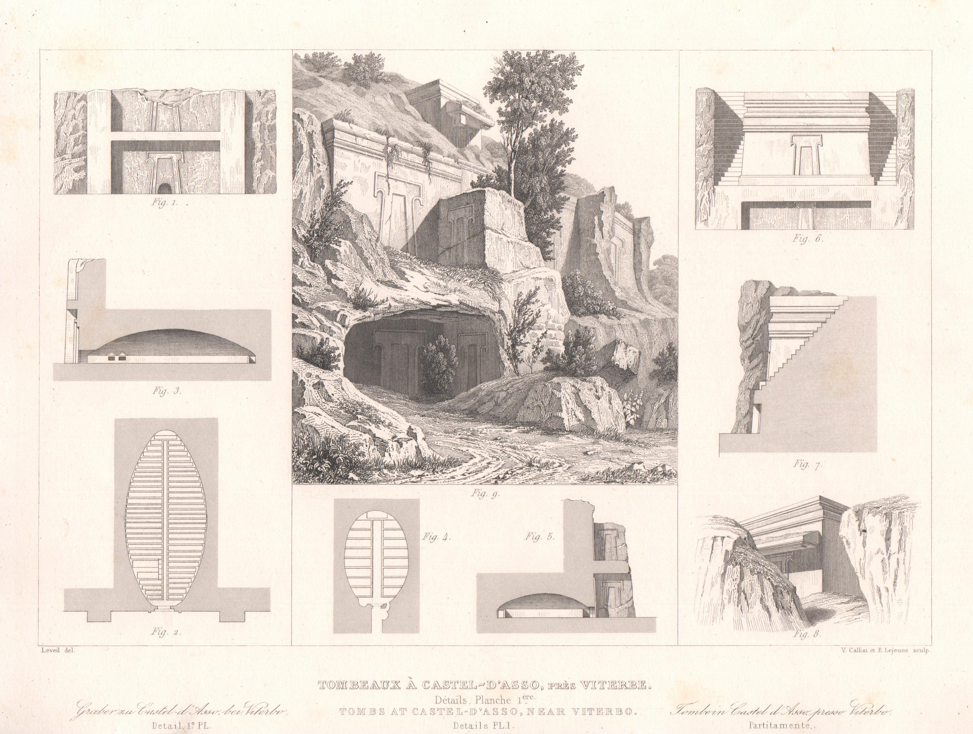 Italy - Antique Monuments - Castel d'Asso's Necropolis - Viterbo - Lazio - Details