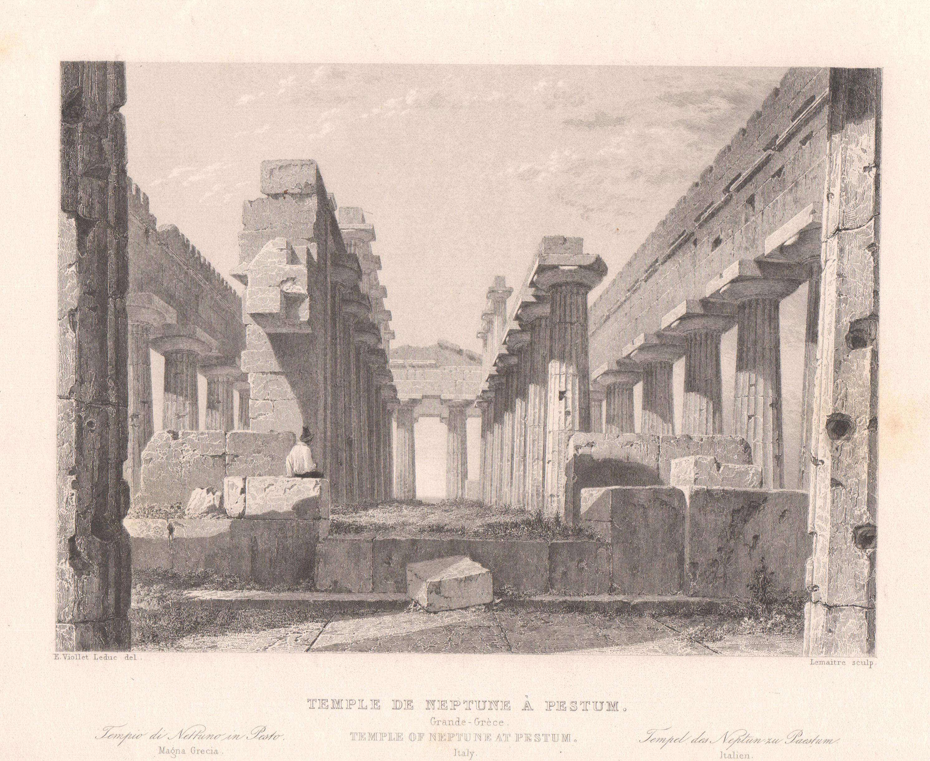 Italy - Antique Monuments - Temple of Neptune at Paestum - Campania