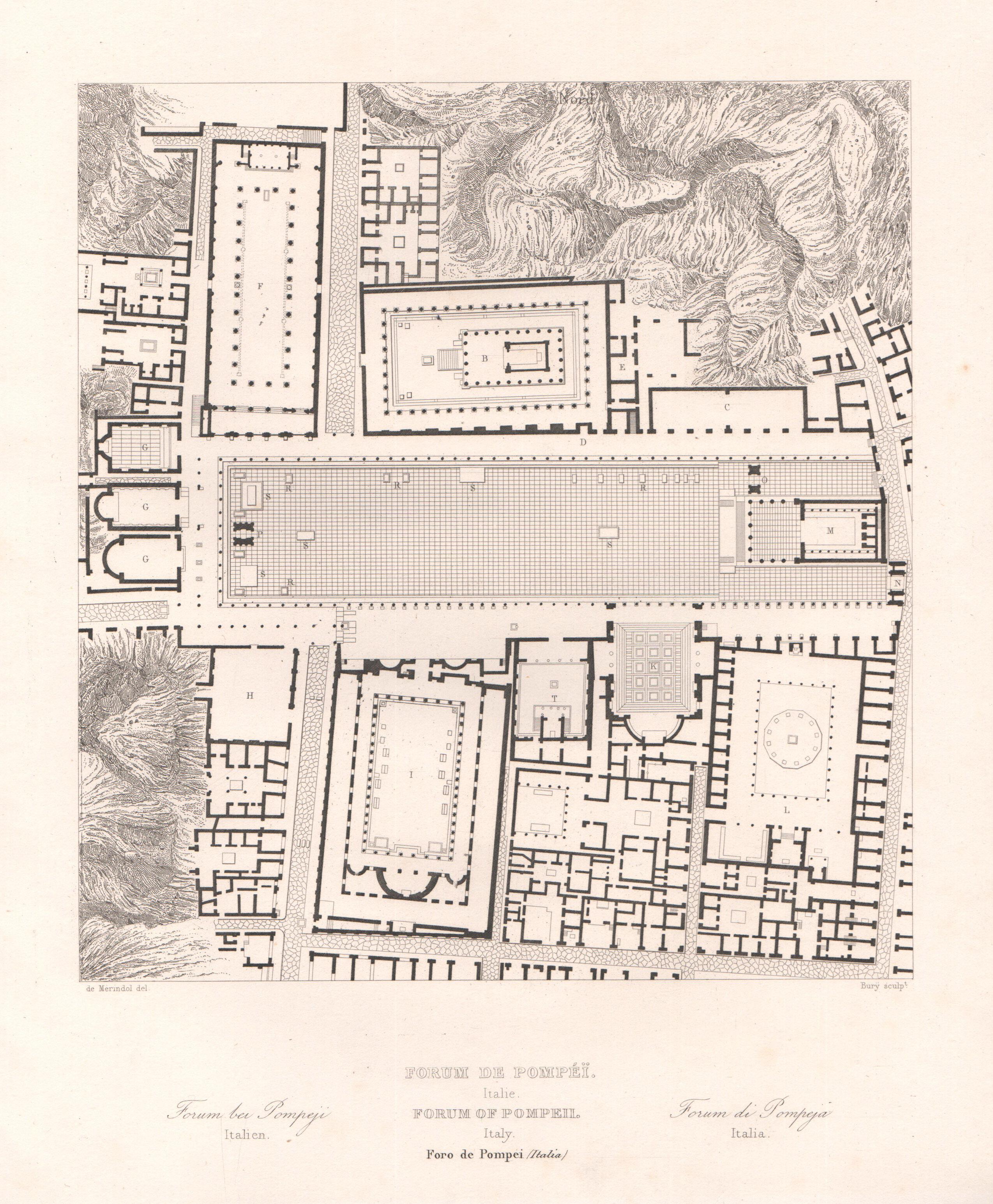 Italy - Antique Monuments - Forum of Pompei - Campania - Naples