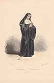 Court Dresses of Rome - Religious order - Benedictine Sister (Italy)