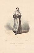 Kleidungen der hofes von Rom - Zoccolette - Armes M�dchen - Bettlerin (Italien)