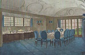 Interior Architecture - Dining room of a country house (A. Dietterle)