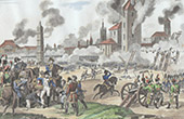 Napoleonic Wars - Battle of Ratisbon or Regensburg (1809) between France and Austria - Napoleon was Wounded