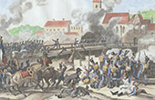 Napoleonic Wars - Battle of Landshut - Crossing the bridge at Landshut (1809)