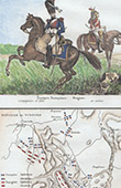Troupe Française - Dragons - Ancienne carte - Bataille de Vimeiro (1808)