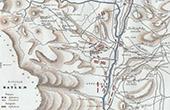 Ancienne carte de Bailén ou Baylen et ses environs - Espagne