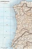 Alte Plan von Galicien und Portugal