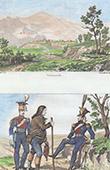 Ansicht von Salamonde - Portugal - Franz�sische Mode - Milit�rkleidung - Franz�sische Armee - Kaiserliche Garde - Chevaulegers