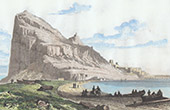 Felsen von Gibraltar - Westseite von Gibraltar - Spanien - Leuchtturm von Tarifa