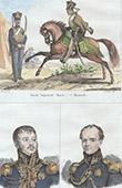 Russian Costume - Military Uniform - Imperial Guard - Hussar - Portraits - Jean Rapp (1773-1821) - Antoine Drouot (1774-1847)
