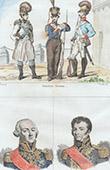 Traje Alem�o - Moda Alem� - Infantaria Sax�oa - Retratos - Legrand (1762-1815) - Vandamme (1770-1830)