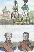 German Costume - Military Uniform - Dragoons - Bavaria - Portraits - Bertrand (1773-1844) - Mouton de Lobau (1770-1838)