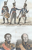 Prussian Costume - Military Uniform - Infantry - Imperial Guard - Portraits - Beker (1770-1840) - Pajol (1772-1844)
