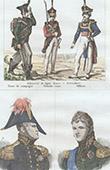 Ex�rcito Russo - Traje Militar - Infantaria - Retratos - Constantino Pavlovich da R�ssia (1779-1831) - Alexandre I da R�ssia (1777-1825)