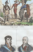 Guerilleros - Guerillas - Ambush - Insurgents - Portraits - Ferdinand VII of Spain (1784-1833) - Charles IV of Spain (1748-1819)