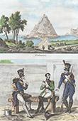 Vue de Saint-S�bastien - San Sebasti�n - Guipuscoa (Espagne) - Arm�e Fran�aise - Uniforme Militaire - 1808 - Garde de Paris
